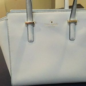 Authentic light vlue kate spade tote